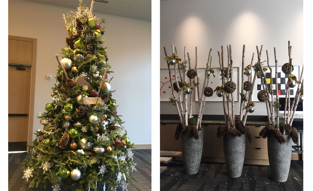 Hotel and Business space Holiday Decor