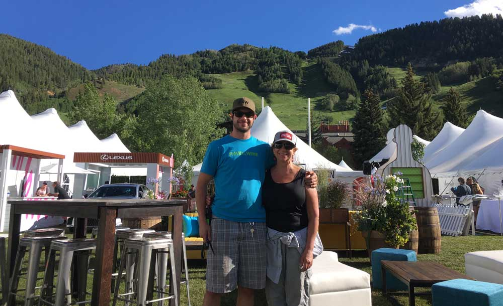 The owner of Mountain Greenery Jill and her son in Aspen, CO